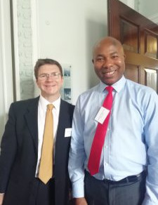 Emmanuel Finndoro-Obasi Director of Trade, Business and Investments, with Charlotte Hall, DFID Head