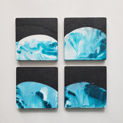 Slate Art Coasters