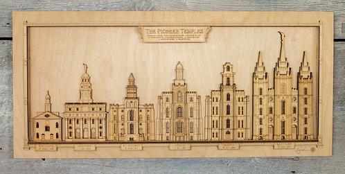 Temple Series Woodcut Unframed