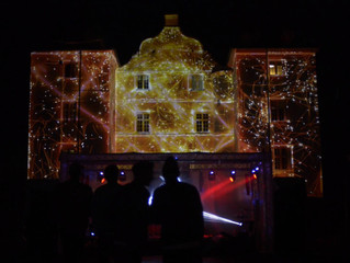 Audiovisuel koncert: KU.BE's fasade i farver
