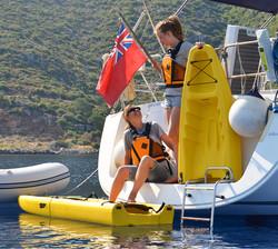 Snap Modular Kayaks On a Boat