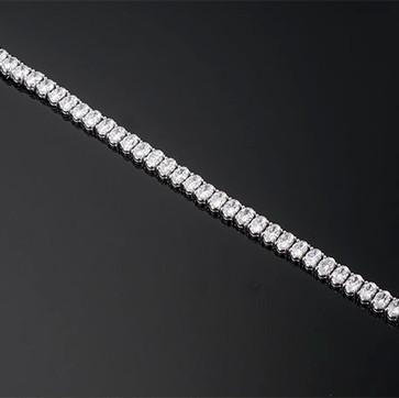 "Oval Diamond Prong Set Line Bracelet  Platinum (7"" x 5.9mm)  39D=14.78cts   BR40813"