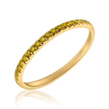 Yellow Diamond French Cut Pave Band 3,600.00 .44 carats of french cut pave set Yellow Diamonds set in 18k Yellow Gold.