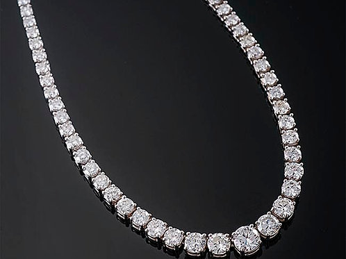 Graduated Round Brilliant Cut Diamond Necklace