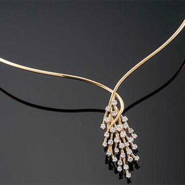 """""""Robert Hallett"""" Diamond Necklace  18K (2 x .75"""")  Other  D-2.00cts   NK40881"""