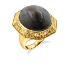 Black MoonStone Rock Ring