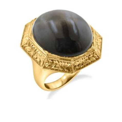 Black MoonStone Rock Ring a product