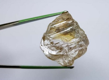 Lucapa Unearths 130ct. Rough Stone