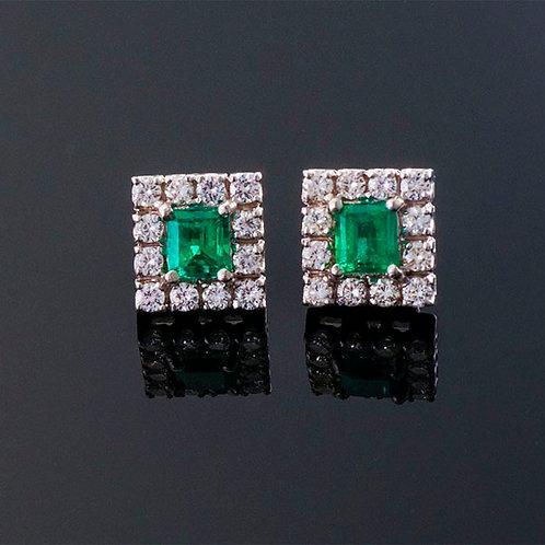 Emerald and Diamond Holiday Earing