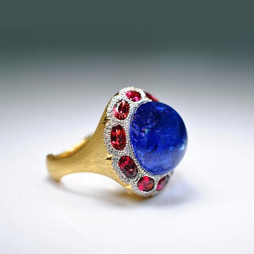 Tanzanite & Spinel Ring