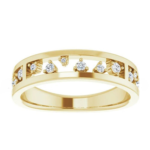 14K Yellow 1/5 CTW Diamond Stackable Ring