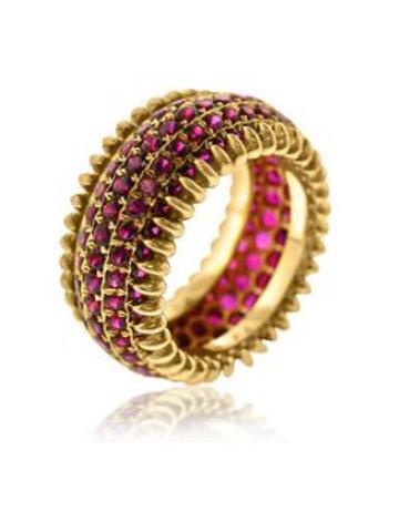 Ruby Row Ring