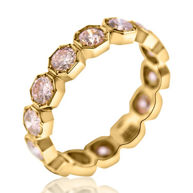 Pink Diamond and Rose Gold Eternity Band  2.23 carats of Pink Diamonds, set in 18k rose gold.