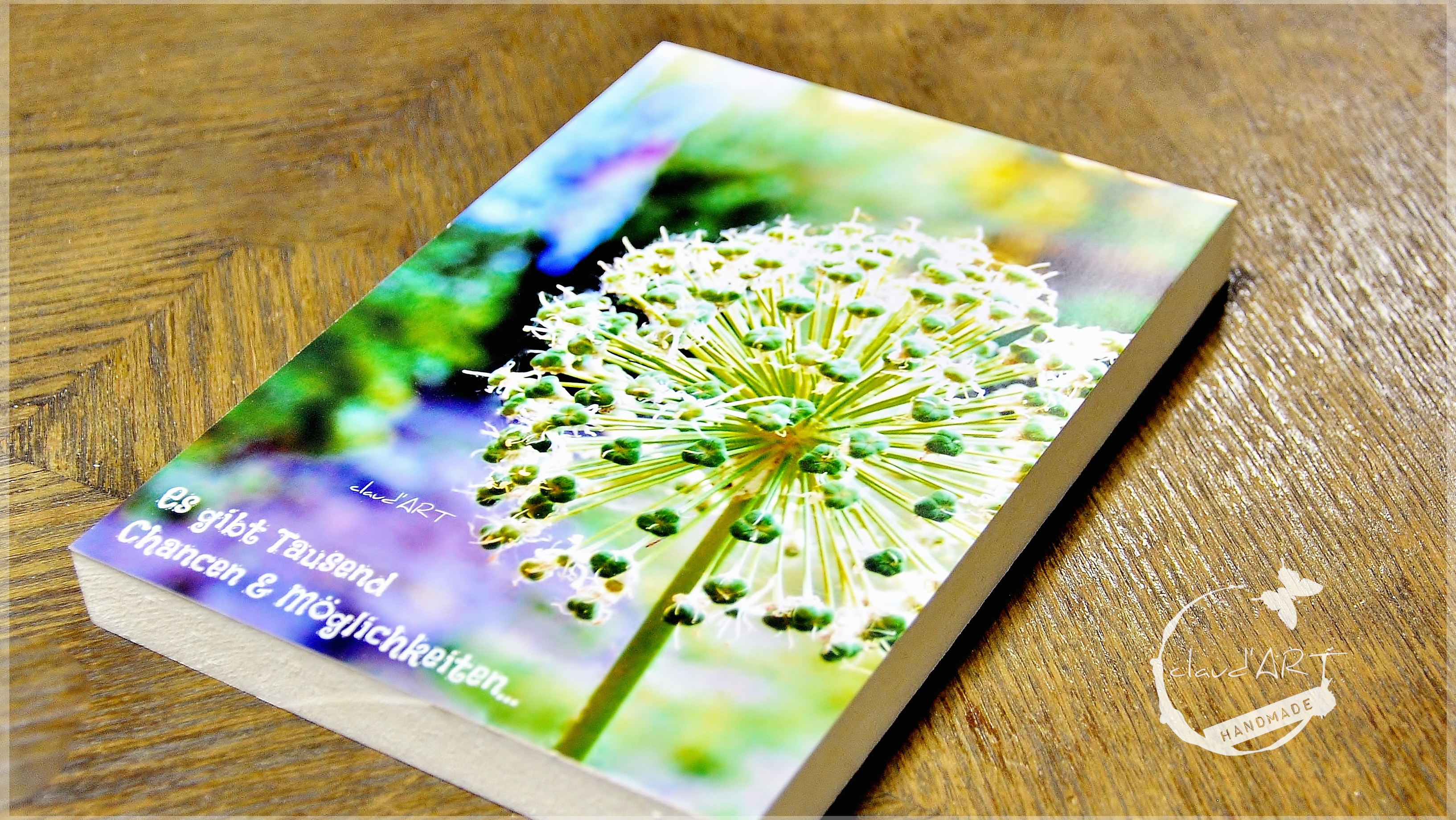 Blütenzauber Holzbild 10x15cm