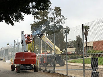 Crown Fence installing chainlink