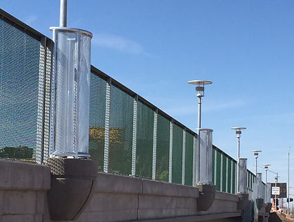 chainlink fence with mesh windscreen