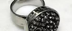 10 Grey Multi Crystal Ring