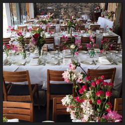 Wedding reception table centres