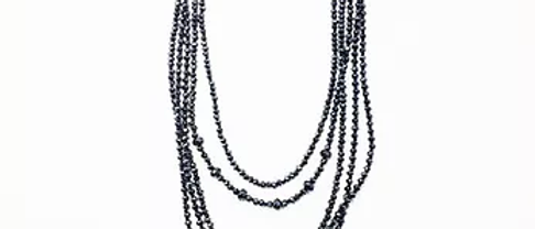 Gun Metal Crystal Multi Necklace N31