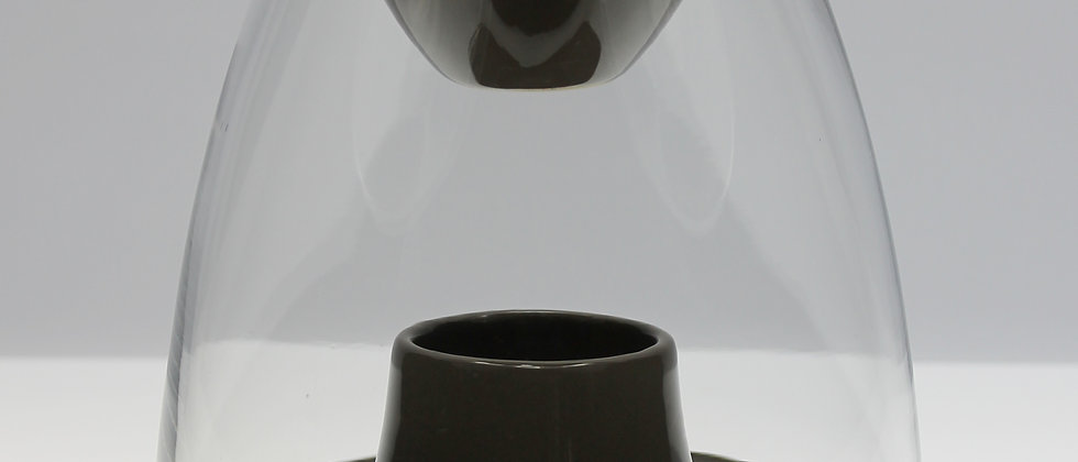 Brown glass dome burner in gloss
