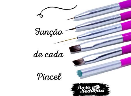 Pincéis Nail Art - Função de cada um
