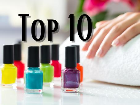 Top 10 unhas: Cores favoritas de esmalte