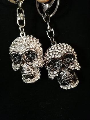 Porte clés Bijoux de sac crane en strass