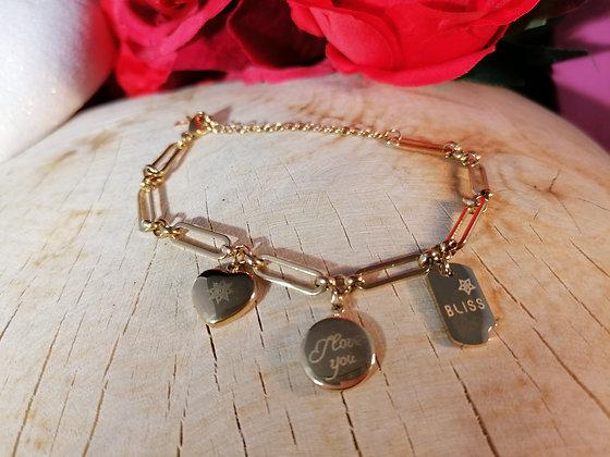 Bracelet jolie maille breloques