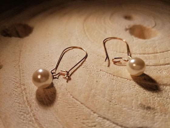 Boucles d'oreilles imitation perle