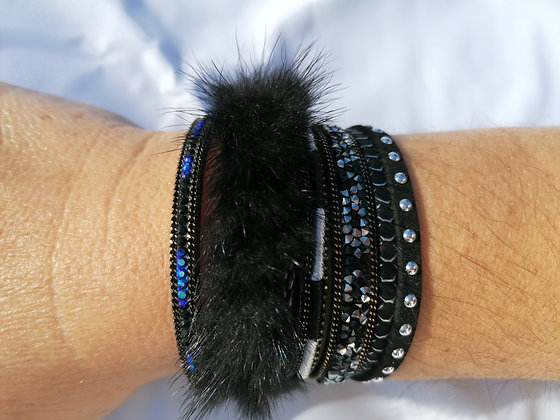 Bracelet triple cuir
