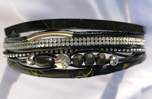 Bracelet double cuir