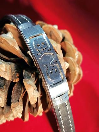 Bracelet homme  tête de mort