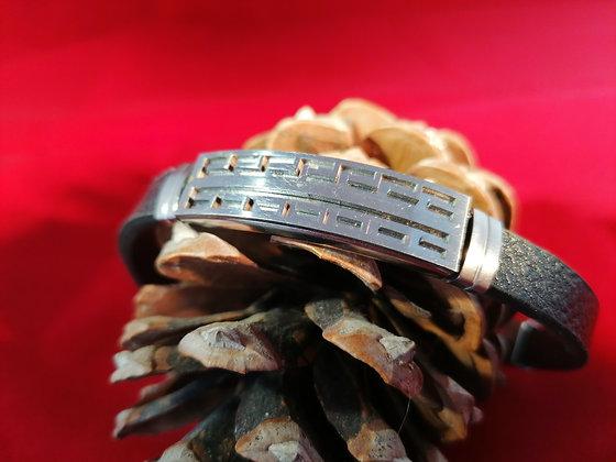 Bracelet homme labyrinthe