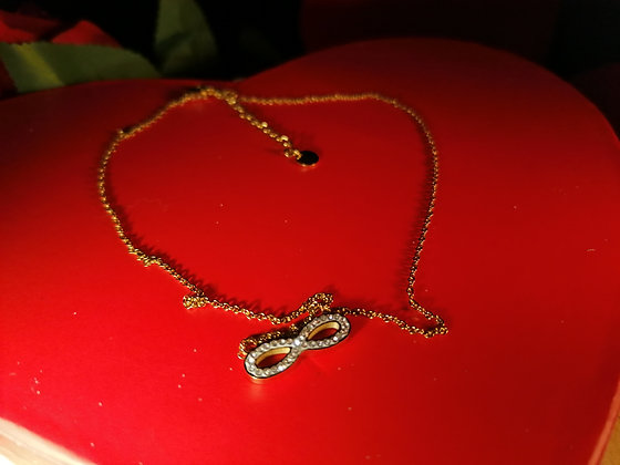 Collier Infini strass