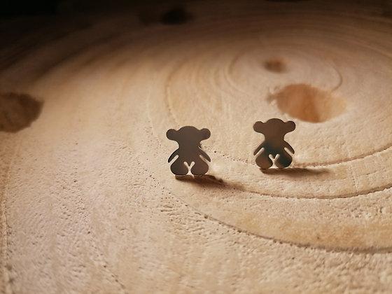 Boucles d'oreilles ourson