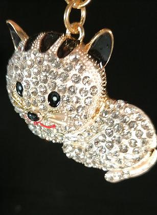 Porte clés fantaisie Bijoux de sac chat couché