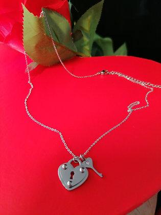 Collier coeur et clé