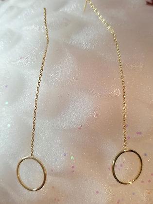 Boucles d'oreilles anneau pendantes