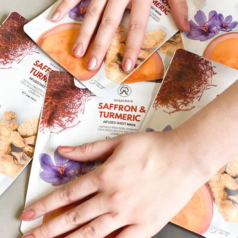 Saffron & Turmeric Sheet Masks