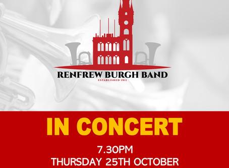 Rescheduled Bishopton Concert
