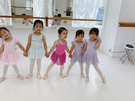 バレエを初めて1か月の生徒!