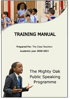 Training Manual - Mighty Oak PS competit