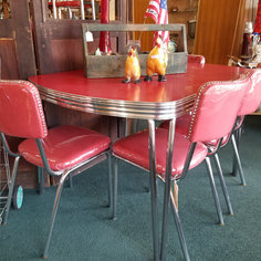 Red Formica Table