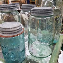 Mason jars in all sizes