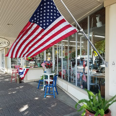 Patriotic front sidewalk