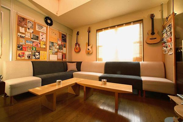 京都,スタジオ,レコーディング,リハーサル,休憩ラウンジ