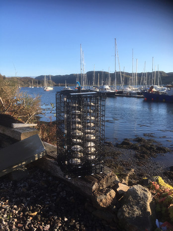 2. The suspended oyster hoister at Ardfe
