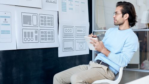 man starring the MVP of innovation with design thinking