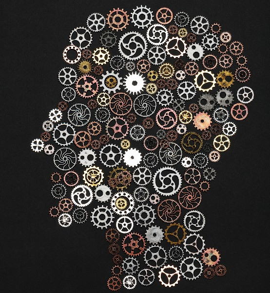 head-wheel-like people think-innovation with design thinking