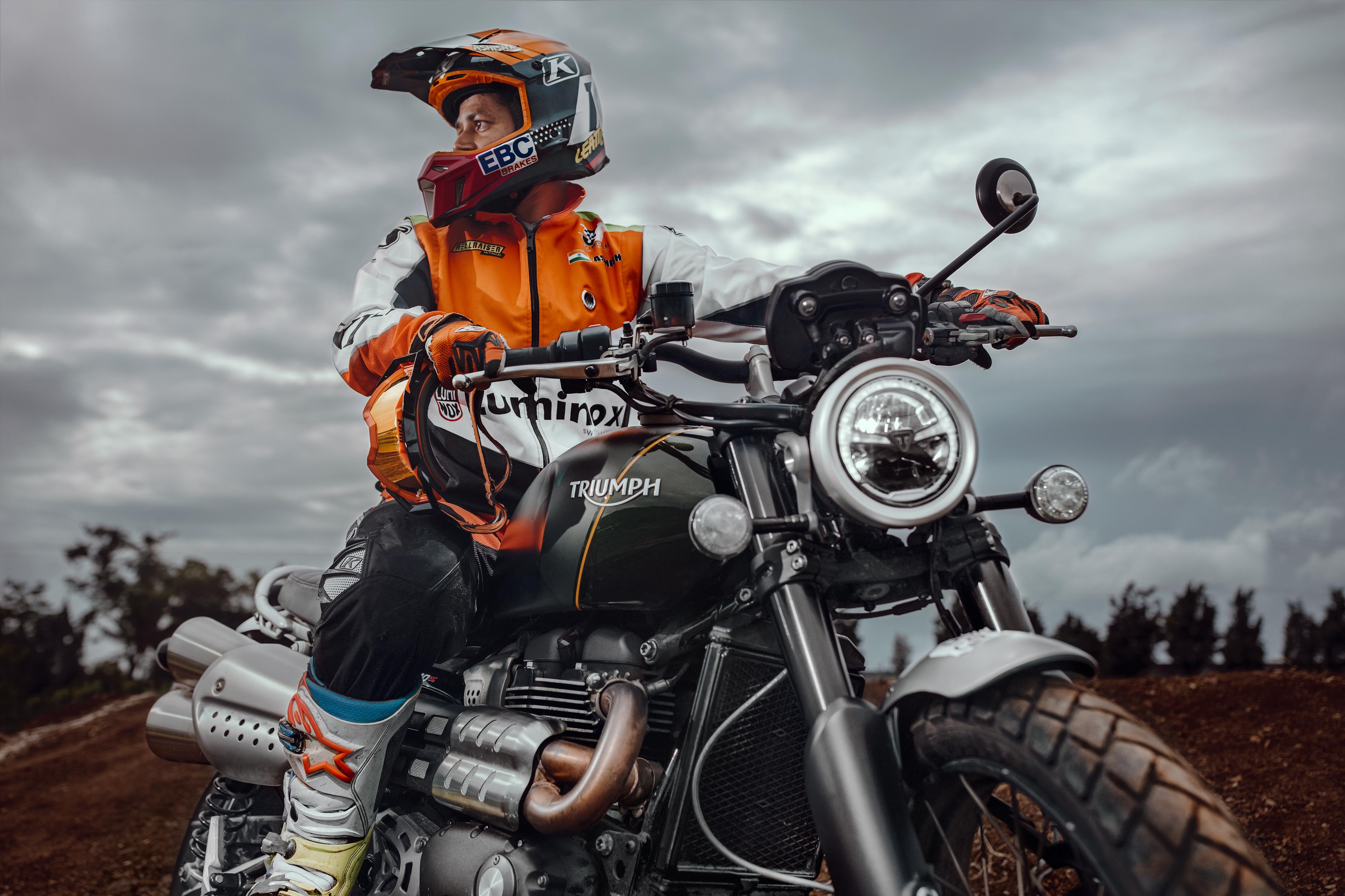 Ashish Raorane - Triumph scrambler 1
